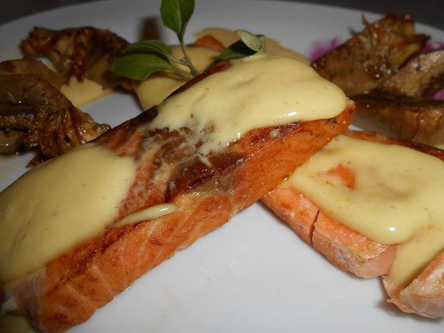 Zaxapn kai alati: Φιλέτο σολωμού με τηγανιτές αγγινάρες