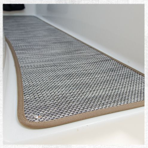 We're really excited to share today's project with you because it features a brand new product we think you're going to like. The floor covering on your boat sees a fair amount of water and traffic...