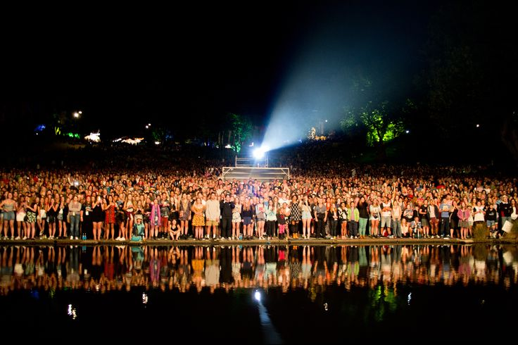 Don't you wish you were here? Crowd at WOMAD 2014. Photo credit Ambrose Hickman.  #Crowd #BowlofBrooklands #Festival #WOMAD #Reflection #FOMO