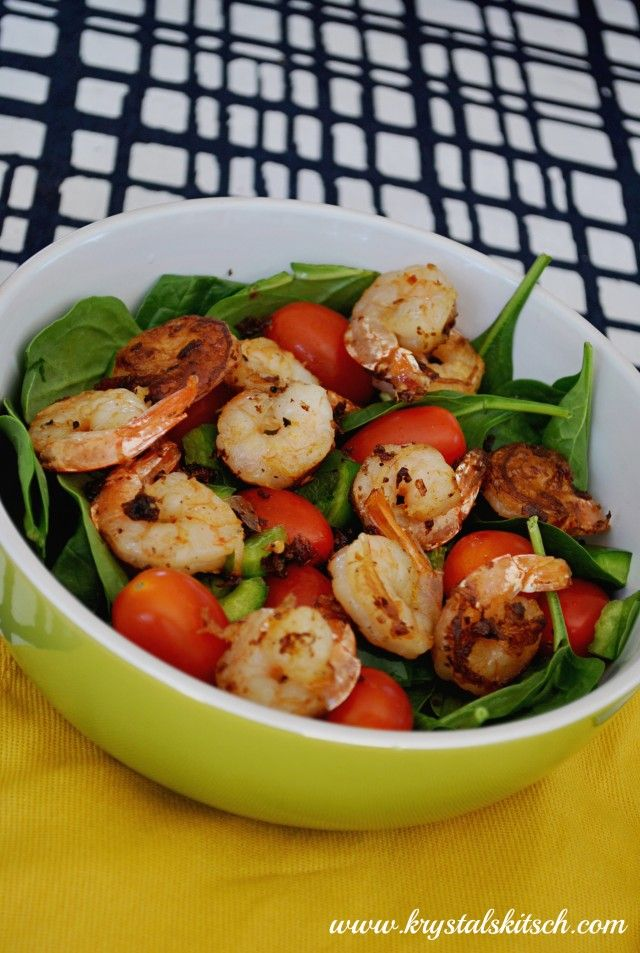 Spinach Shrimp Salad Recipe // easy and Whole 30 approved!