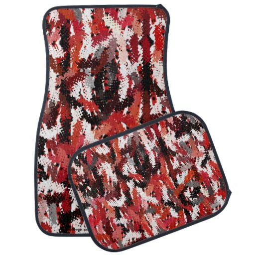 Graffitti designed Black, Red and White 4 piece Car Mat set by khoncepts.com  $88.95