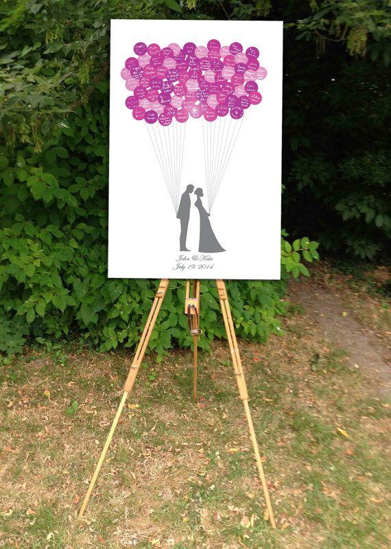Wedding Guest Book Bride & Groom Guest Book by BrilliantIdea