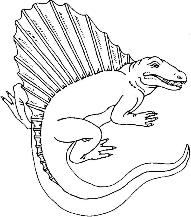 cartoon dinosaur coloring pages kids Crafts Parties