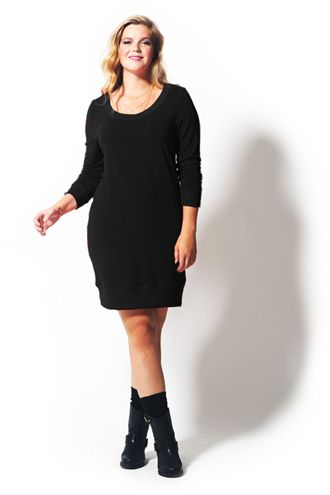Ellie Uzun Kollu Triko Siyah Tunik
