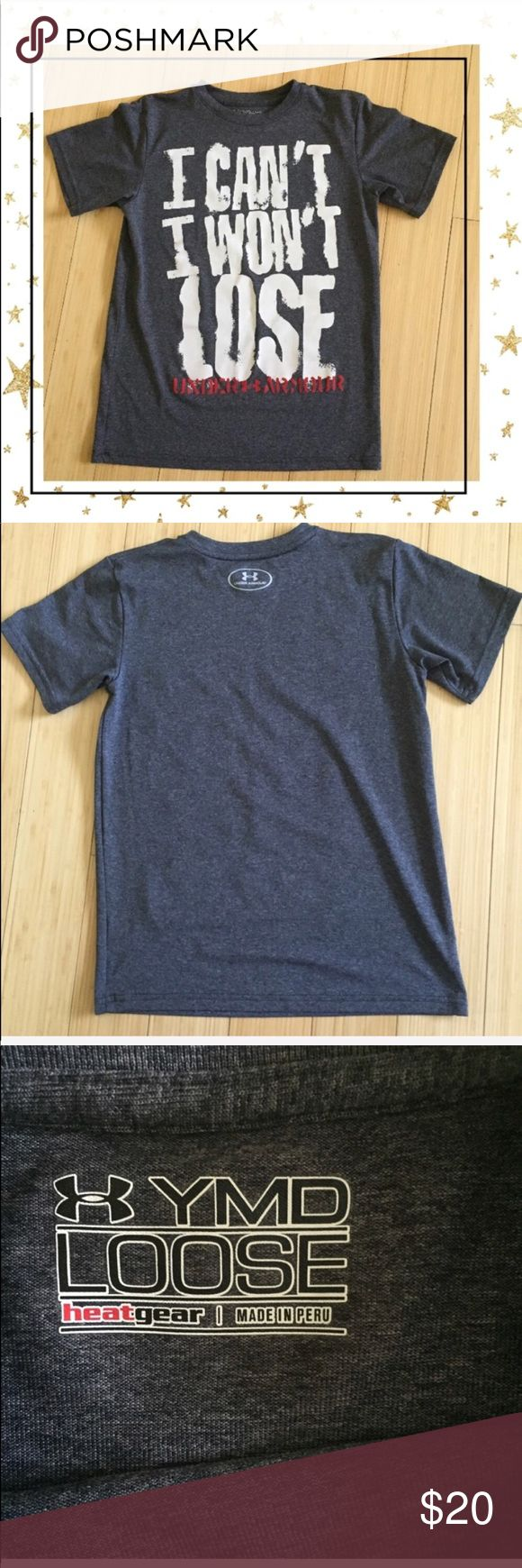 Under Amour Sport T-shirt (Gy23B7U) Grey Short sleeve top. Polyester. Made in Peru. Excellent condition. No tag with size but i would say it size Sm/M. See pictures for measurements. Offers welcome. No trade Under Armour Tops Tees - Short Sleeve
