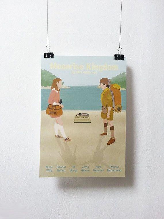 Affiche de film Moonrise Kingdom - Poster Wes Anderson A3