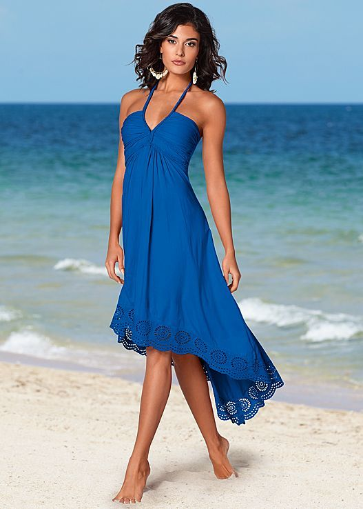 This dress just made it easier to pick out your 4th of July look! Venus high low halter dress.