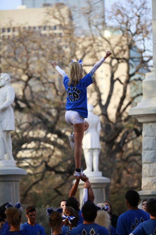 #Cheer Athletics competitive cheerleader doing a liberty.   (Moved from Start Here: Pin Rotator board...will probably stay here or maybe get moved to my Cheer Athletics board) competition, stunt, extension level, compete, team, cheerleading