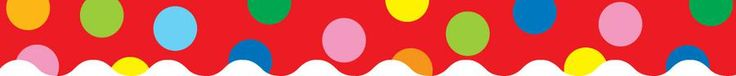 Jumbo Polka Dots On Red Bulletin Board Border, Scalloped | SS-1909 | CTP1179