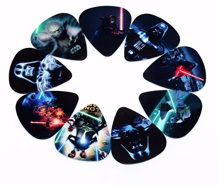10 Assorted Star Wars Guitar Picks Thickness 0.71mm – Great Guitar Gifts
