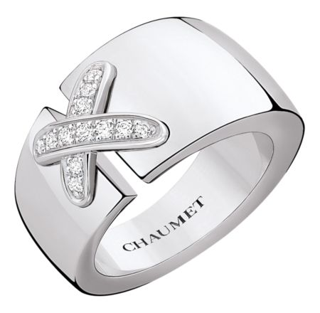 Chaumet Liens ring in white gold and diamonds