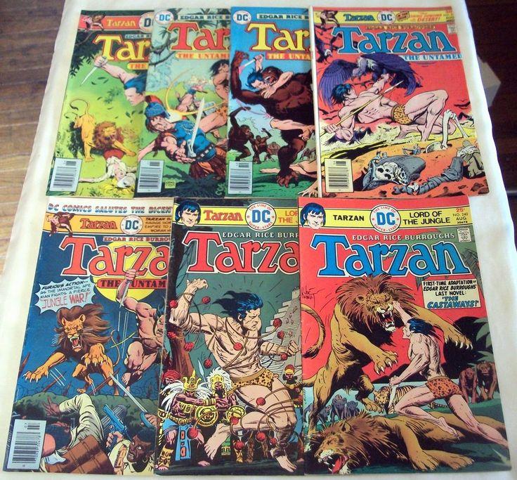 #Tarzan of the Apes No. 240 241 250 251 252 254 255 #DC Comics Lot of 7 Joe Kubert