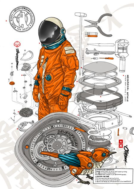 TIME & SPACE by Clog Two, via Behance