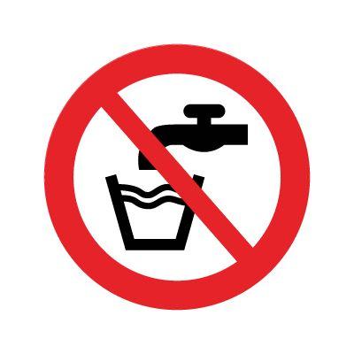 Ikke drikkevand - Køb forbudsskilte her