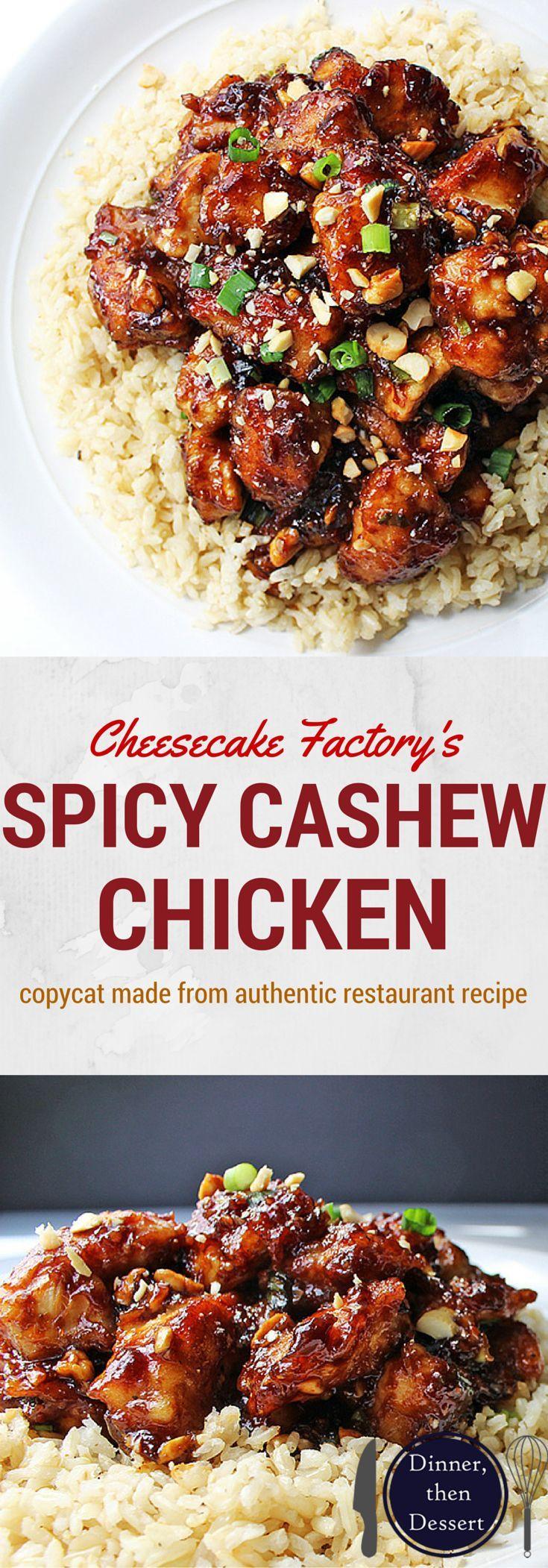 Spicy Garlic Cashew Chicken Recipe — Dishmaps