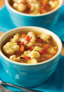 Roasted Cauliflower and Red Pepper Soup. To make this roasted ...