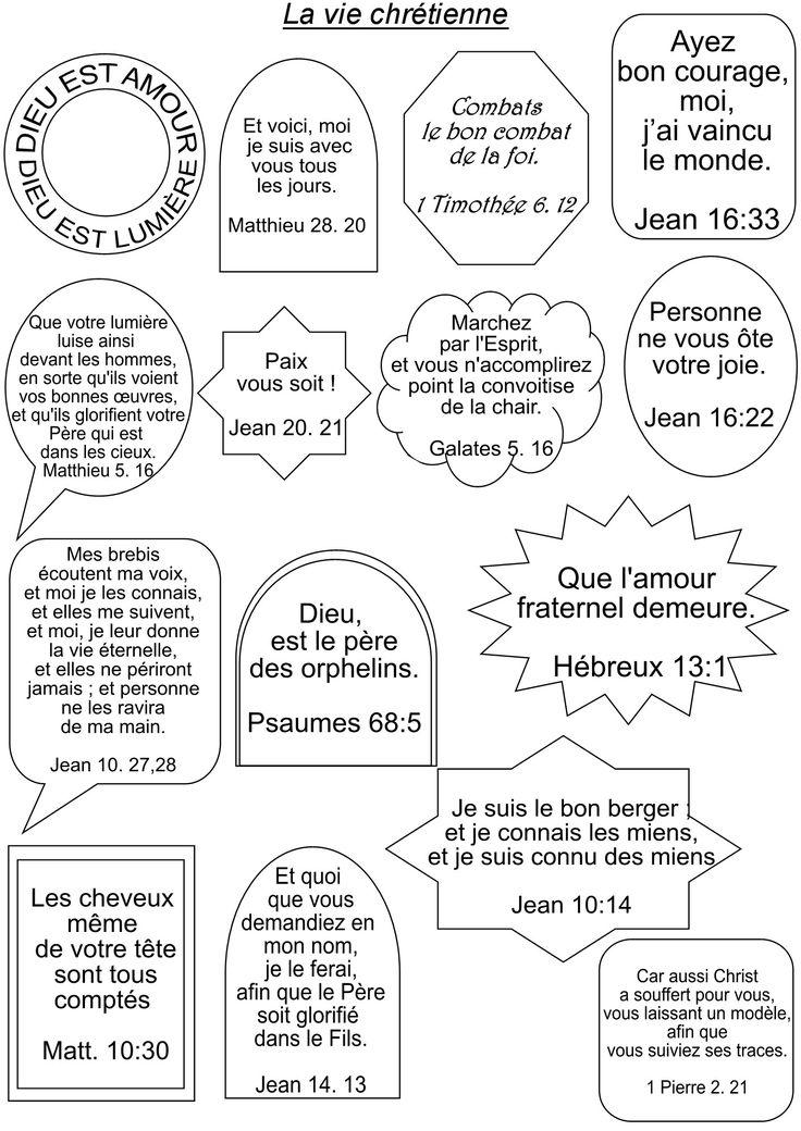 80 versets bibliques sur 5 pages de 16 versets