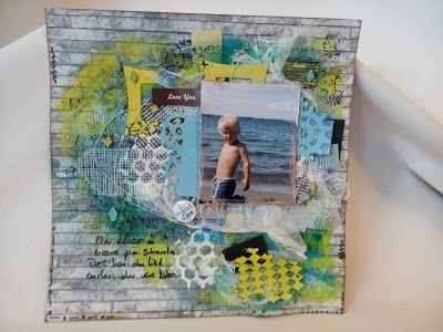 Susannes Scrapbooking og Håndarbeid : Strand Løve - Mixed media