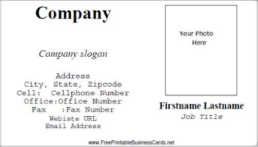 Custom photo business card
