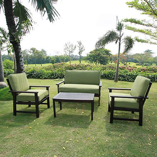 Purchase The Famous Outdoor Patio Furniture Sofa Chat Table Set Teak Wood  Finish Deep Seating Cushions By Outdooor Furniture Online Today.