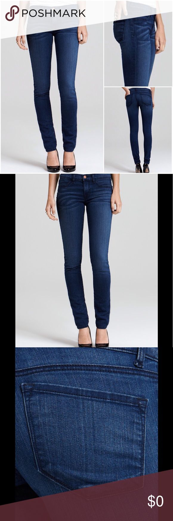 J BRAND $229** Denim Legging Super Skinny Jean New Without Tags.  SOLD OUT!  J BRAND Bloomingdales Exclusive Denim Legging Super Skinny Jeans in South Bay Wash.  (STRETCHY).  MFSR: $229.00.  SIZE: 29.     Heavy Front Whiskering & Fading puts a vintage spin on these sleek & sexy J Brand Jeans.  Tonal Stitching, Copper-Tone Hardware, Faux Front Pockets, Two solid flat back patch Pockets.   Cotton/Spandex J Brand Jeans Skinny
