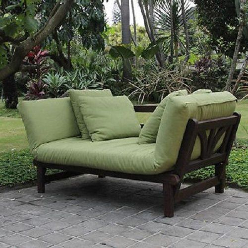 Perfect Outdoor Daybed Patio Sofa Bed Adjustable Lounger Futon Chaise Cushion