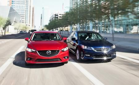 The Mazda6 victories keep piling up!  Car and Driver - 2014 Mazda 6 Grand Touring vs. 2013 Honda Accord EX-L - Comparison Tests