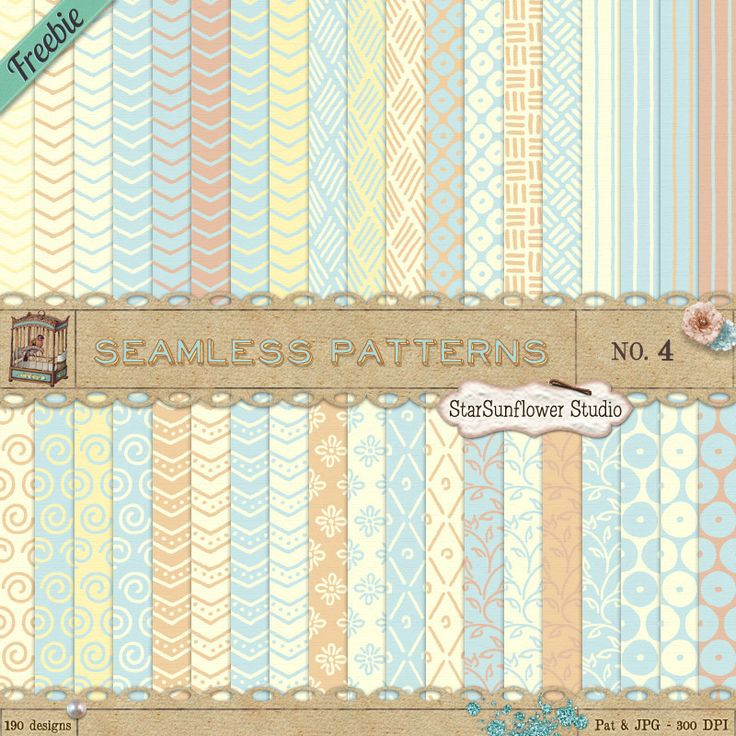 @Karrie Rottschalk - Beautiful seamless patterns for photoshop and gimp