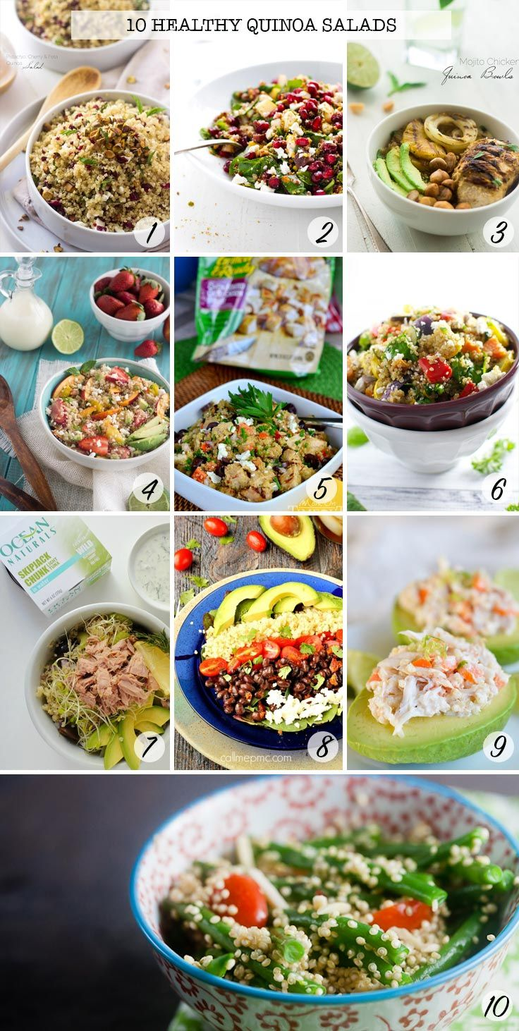 These quinoa salads look delicious! Perfect for Spring and Summer meal plans!