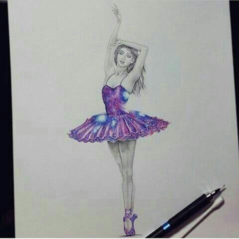 Dibujo Bailarina A Lapiz