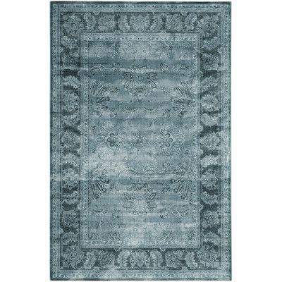 Gefunden bei Wayfair.de - Teppich Vintage in Hellblau