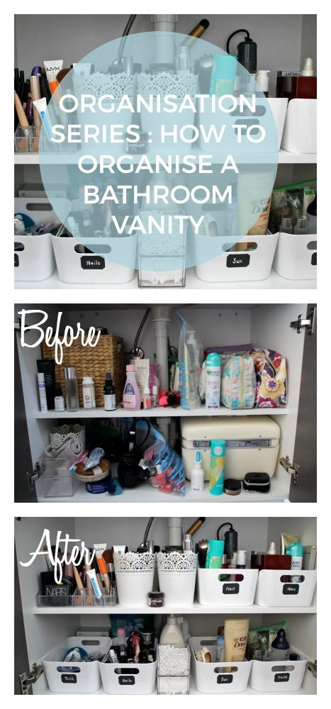 How to Organise your Bathroom. 17 Best ideas about Bathroom Vanity Organization on Pinterest