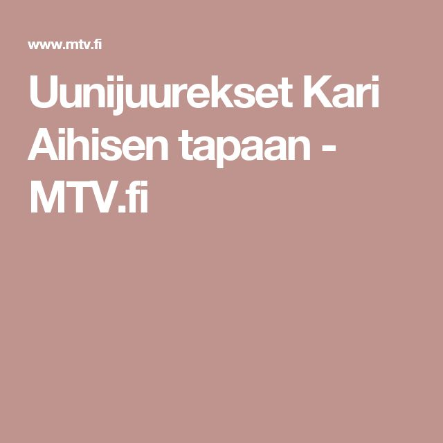 Uunijuurekset Kari Aihisen tapaan - MTV.fi