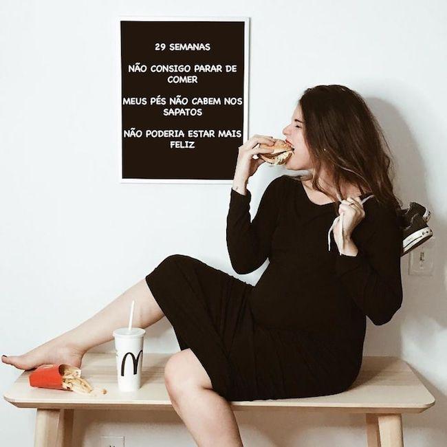 Fotógrafa relata su embarazo en esta divertida secuencia