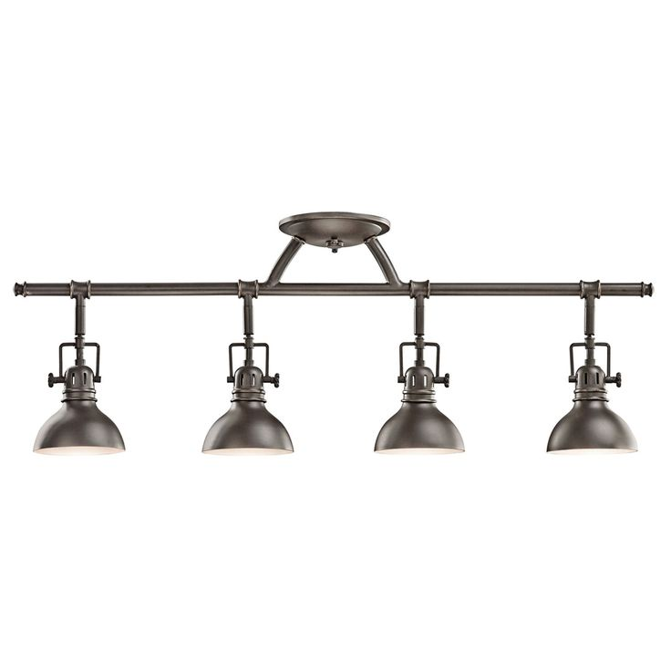 Olde Bronze Four Light Fixed Rail Kichler Directional Spotlights Track Lighting Ceiling Li