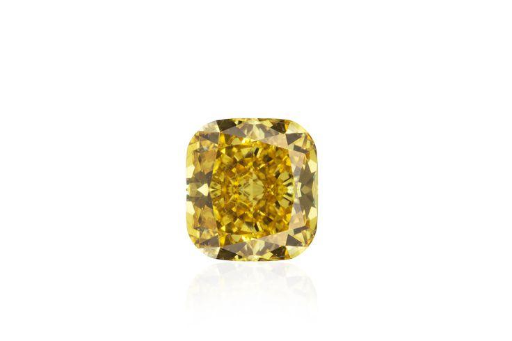 Vivid Yellow Cushion Diamond