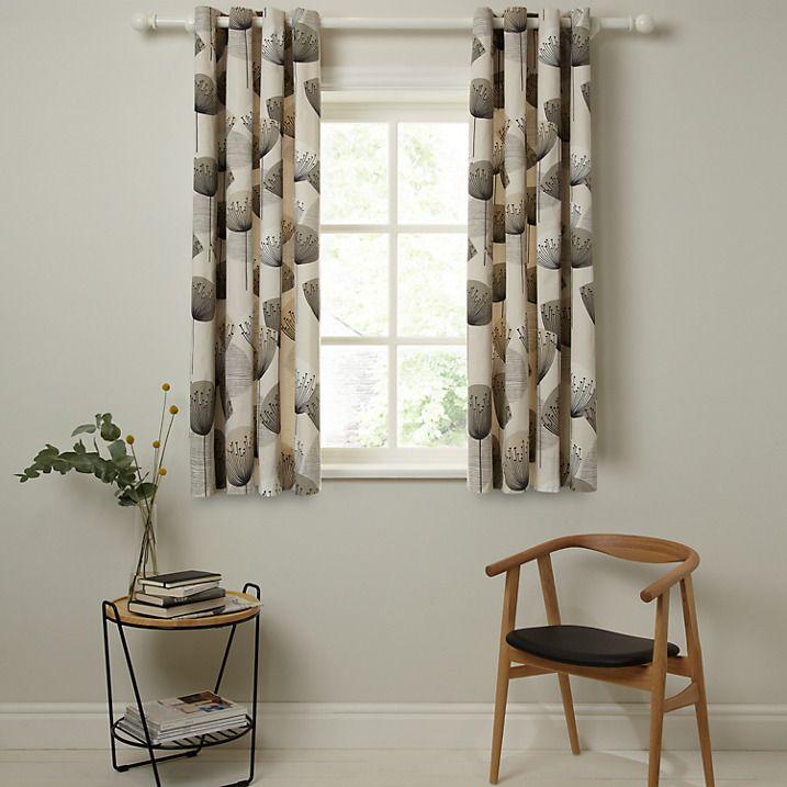 Buy Sanderson Dandelion Clocks Lined Eyelet Curtains, Neutral, W167 x Drop 228cm Online at johnlewis.com