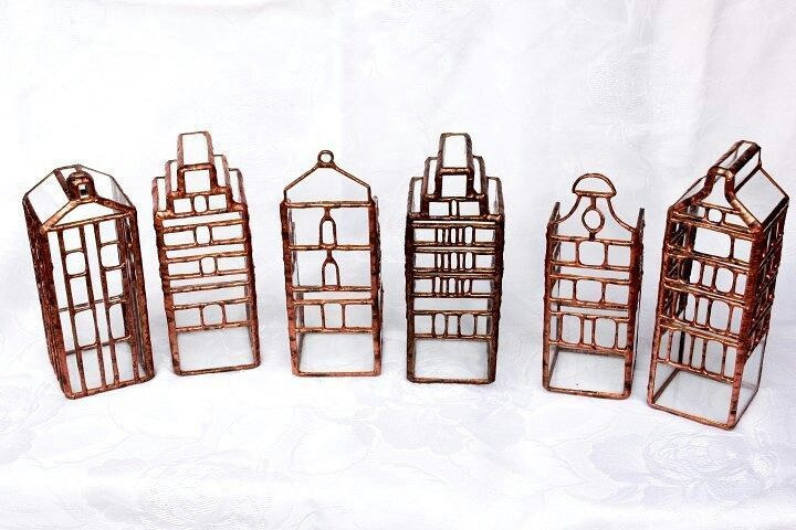 Copyrighted product, Formally protected design! Krisztina Czika design. Empty houses little tiffany houses  for plants #antecedents #florarium #house #tiffany
