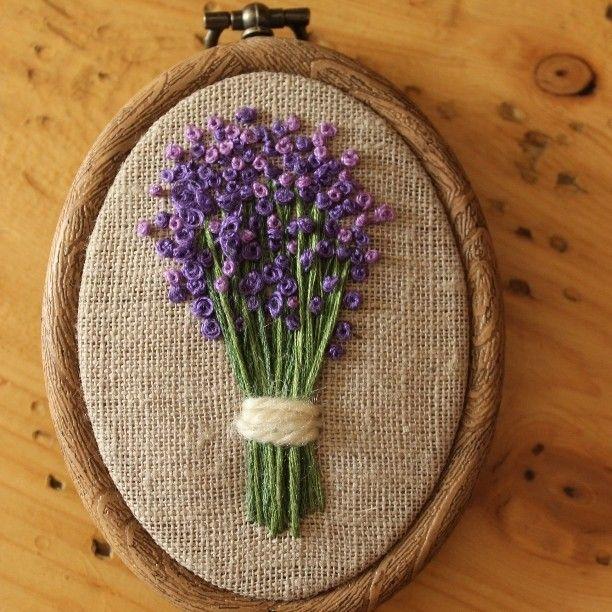 Панно #лаванда  размер 10*7см. 600р. #вышивка#цветы#ручнаяработа#украшениеинтерьера#магазинподарков#lavender#flower#handmade#handmadeshop#gift #helgas_embroidery