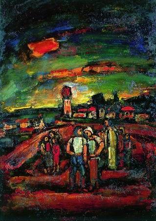 Georges Rouault - Crépuscule en Ile de France 1937