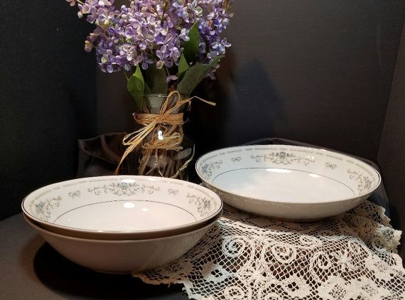 Diane Vegetable Bowls Diane China Bowls Vintage by OurVintageNest