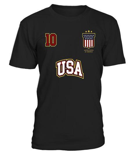 # USA Sports Shirt Number 10 American Team United States Flag .  Special Offer, not available in shops      Comes in a variety of styles and colours  …