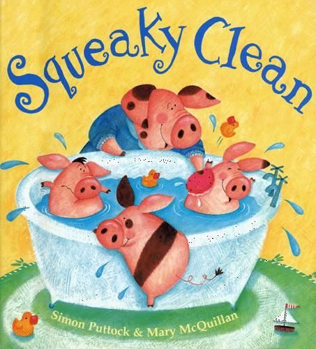 """Another catch-up — a few weeks ago, I did bathtime storytime! Started off storytime with """"Squeaky Clean"""" by Simon Puttock. This is a fabulous story about a Mama Pig who gets her t…"""