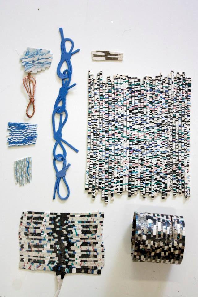 EDELPLAST by Billie Van Nieuwenhuyzen - Transforming cable waste into jewellery by weaving