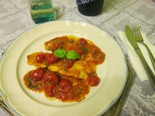 Culinaria  direto da Italia: File de merluza alla pizzaiola (Filletto di merluz...