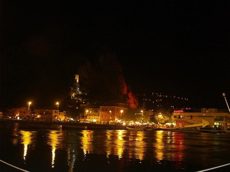 Croatia - Omiš by night #croatia #chorwacja #omis