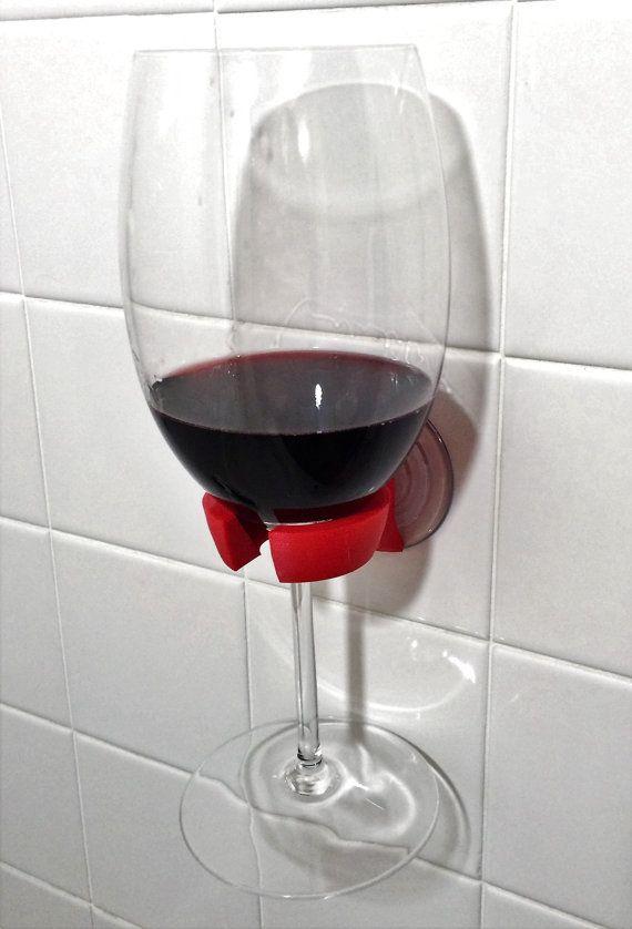 Wine Glass Holder Bathtub Shower Bathroom 3D by MG3DDESIGNS