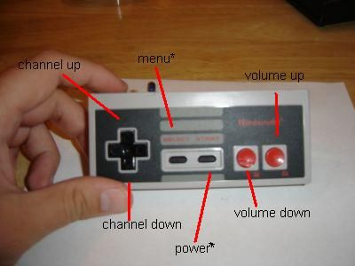 Nintendo Entertainment System NES System Console Controller Cartridge Game Retro DIY Hack How To Project Mod Modification TV Television Remote Wireless