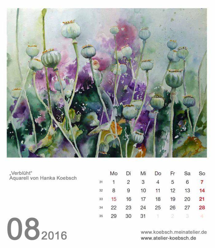 Kalenderblatt August 2016 | Bilder, Aquarelle vom Meer & mehr - von Frank Koebsch