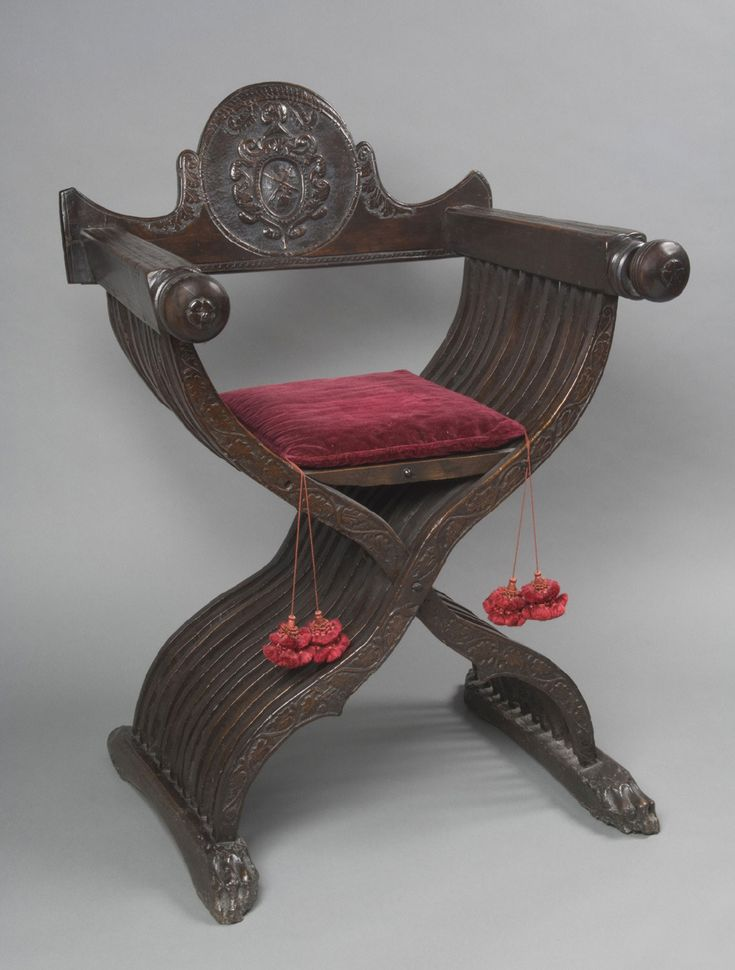 Folding Armchair Artist Maker Unknown Italian Geography